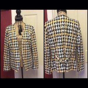 Pretty ny collection open front blazer